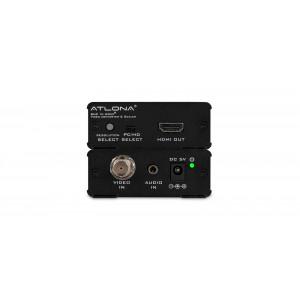ATLONA BNC/Aud to HDMI Convtr/Scaler