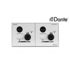 ECLER WP22DN Dante™ Interface in a Wall Panel